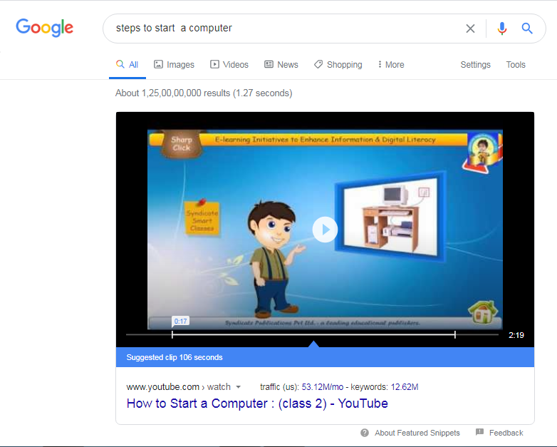 Youtube Featured Snippets